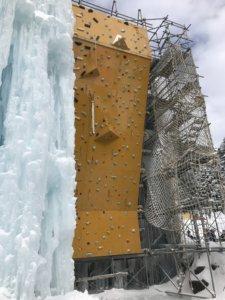 赤岳鉱泉アイスキャンディー(例年ドライウォールはごく一部のみで縮小傾向にある)