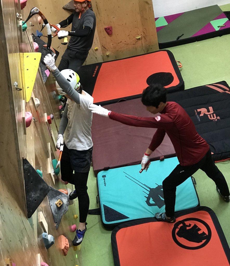 垂壁での練習